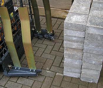 Dubbele stenentransportklemmen